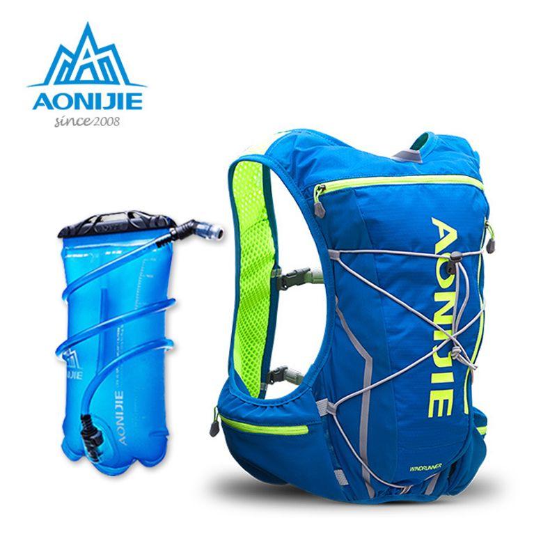Neue AONIJIE E904S Nylon 10L Außen Taschen Wandern Rucksack Weste Professionelle Marathon Radfahren Rucksack für 2L Wassersack