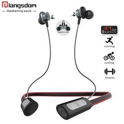 Langsdom номер IPX4-rated Спорт Bluetooth наушники для телефона Беспроводной Bluetooth гарнитура с микрофоном Беспроводной Наушники Fone де ouvido