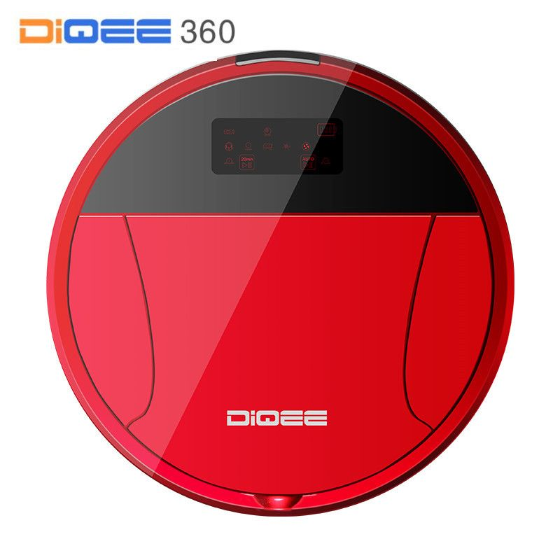 DIQEE 360 Smart Robot Vacuum Cleaner For Home Sweeping Dust Gyro Navigation Planned Clean WIFI Phone RC Camera
