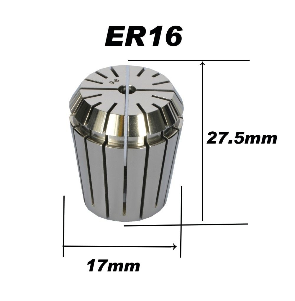 High precision ER16 Accuracy 0.008mm Spring Collet For CNC Milling Machine Engraving Lathe Tool Free Shipping