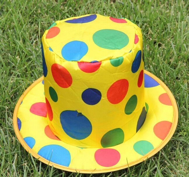 1 Pack Polka Dot Chapeau De Clown Cirque Carnaval Halloween Party Accessoire de clown caps cosplay Fête D'anniversaire Décoration