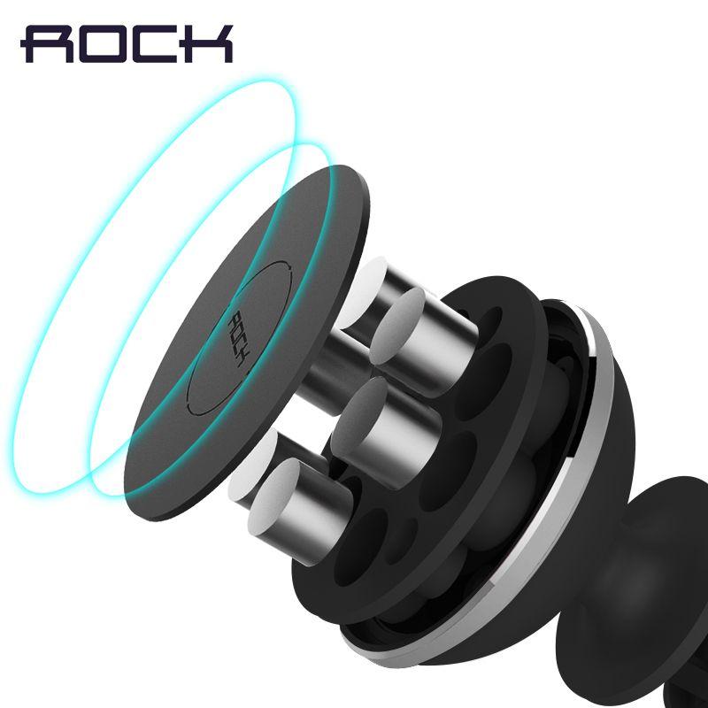 ROCK Magnétique Support de Téléphone De Voiture, Mini Air Vent Sortie Montage Magnétique Téléphone Mobile Support Universel Pour iphone Samsung Voiture Stand