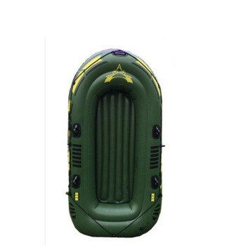 LM1243 Super Thickening PVC Inflatable Rowing Boat  Green Fishing Boat with Spare Parts 200kg Bearing 2/3/4 Persons