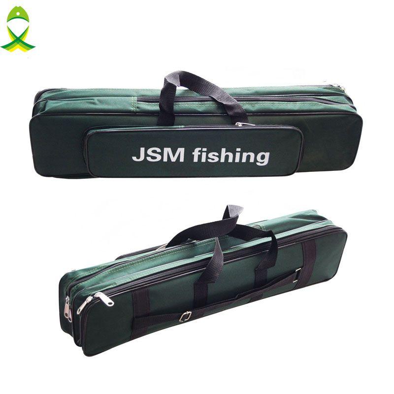 JSM green Two-Layer Nylon Fishing Bag Large Capacity Double Layer Fishing Rod Tackle Bag Fishing Equipment bags