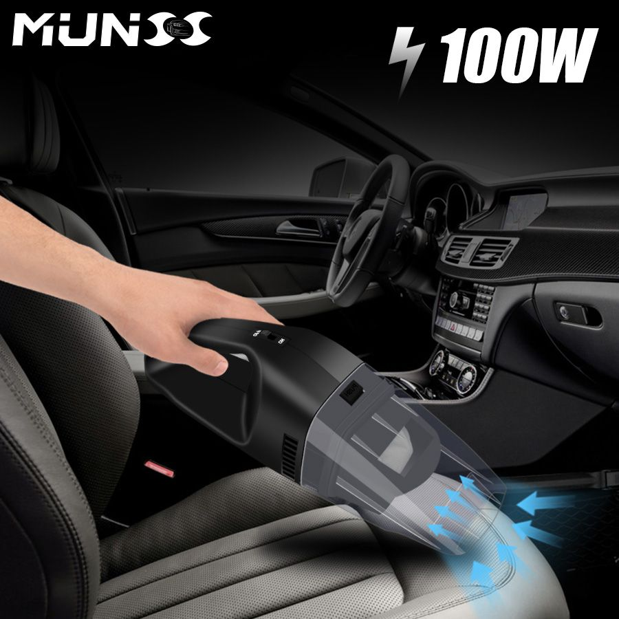 2018 100W MUNSS Mini Car Vacuum Cleaner Car Cleaner Handheld Portable 12V Powerful Auto Cleaning Tools Car Vacuum Cleaner 3609