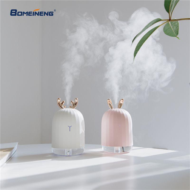 BOMEINENG 220 ml Blanc Cerf Mini Air Humidificateur D'huile Essentielle Diffuseur Aromathérapie Ménage Ultrasons Humidificateur Usb Diffuseurs
