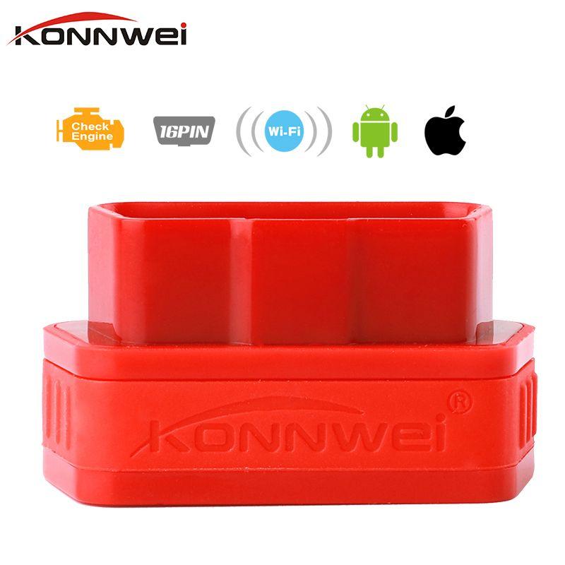 Konnwe kw901 ELM327 V1.5 WI-FI сканер Авто OBD OBD2 инструмент диагностики ELM 327 WI-FI OBDII V 1.5 Беспроводной для Iphone IOS/Android