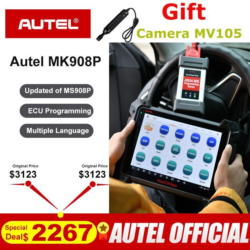 Autel MaxiCom MK908P OBDII ECU Tester Programmierung OBD2 Auto Diagnose Scanner Tool J2534 Programmierer PK Maxisys Elite MS908P Pro
