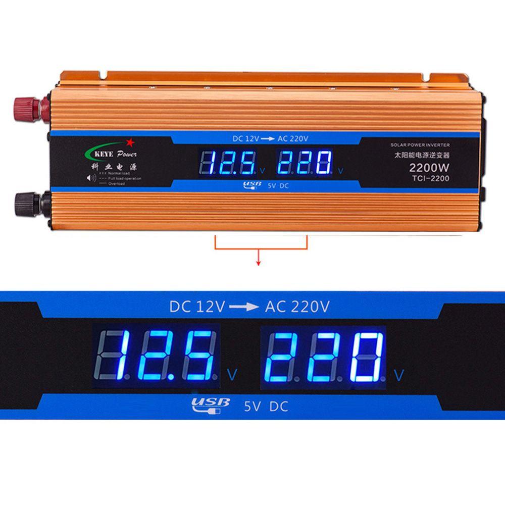 2200W Automobiles Power inverter DC 12V AC 220V Car Charger Converter 12 <font><b>Volts</b></font> to 220 <font><b>Volts</b></font> USB 5V 1A 50Hz CY894-CN