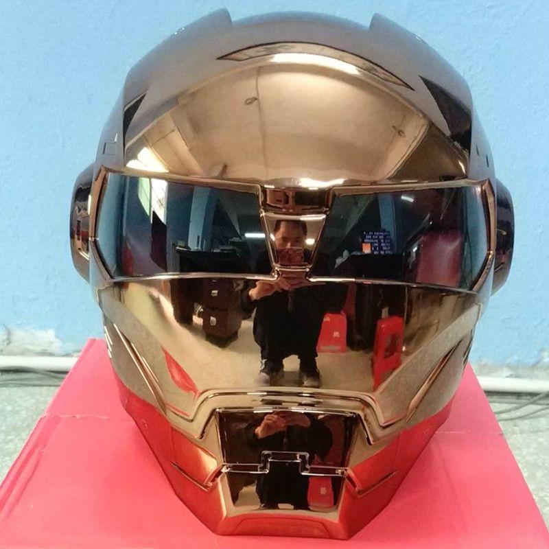 Masei bike scooter moto electroplate copper iron man helmet motorcycle helmet half helmet open face helmet casque motocross