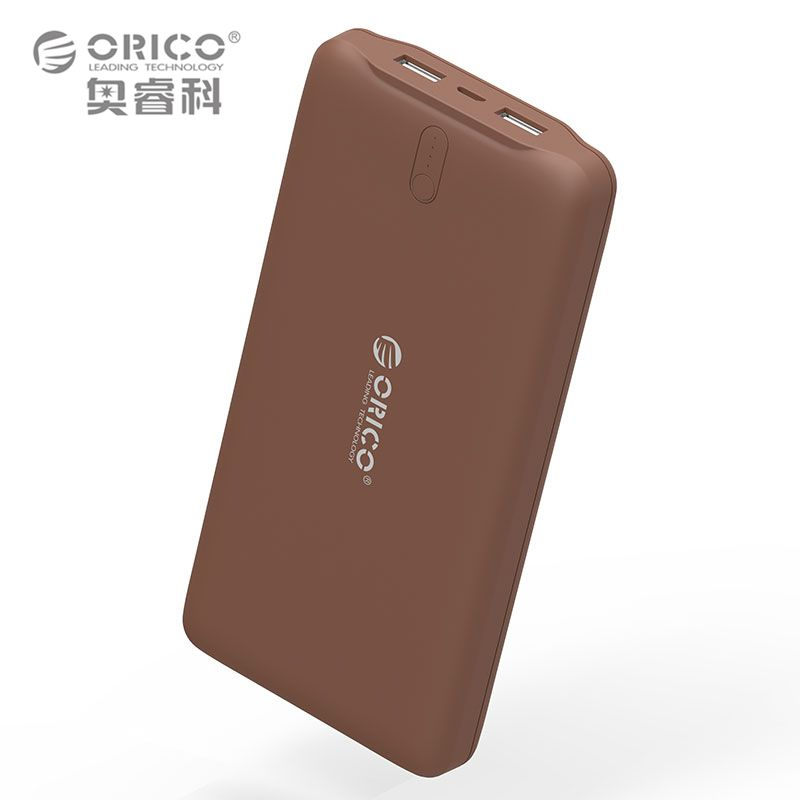 ORICO 20000mAh Power Bank Dual USB External Battery 5V2.4A Smart Charger Brown / White / Pink
