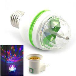 Festival 3W LED Mini Stage Disco DJ Light E27 Christmas New year party Lighting Auto Rotating RGB Bulb Lamp Magic Ball 110v-220v