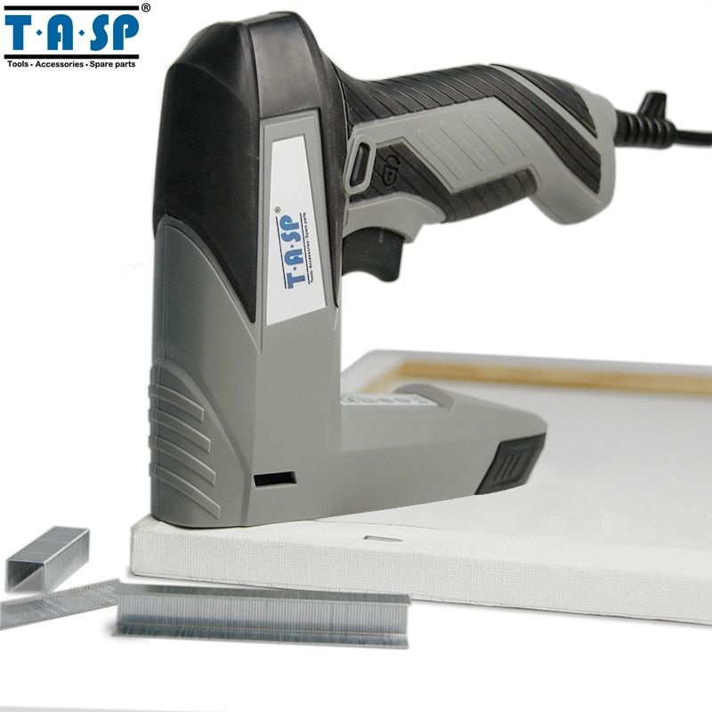 TASP 220V 45W Stapler Electric Staple Nail Gun Tacker for Woodworking Power Tool