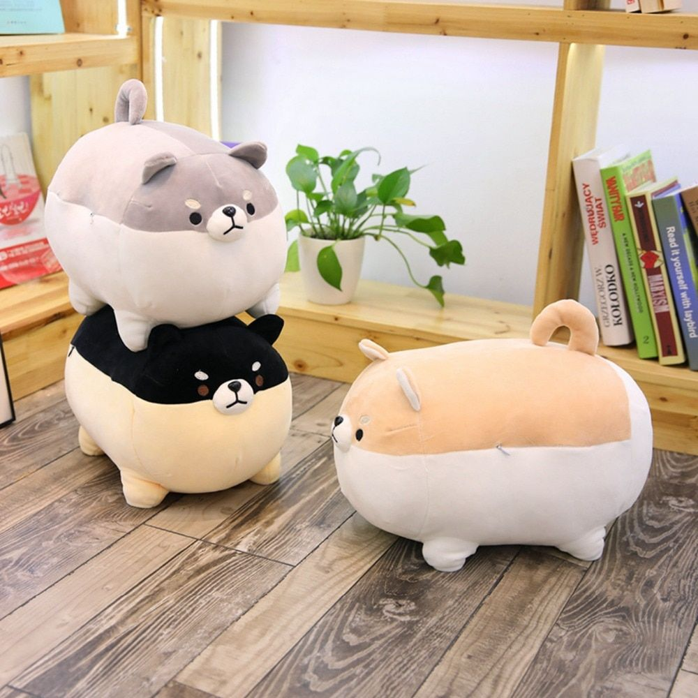 1PC New 40cm Cute Shiba Inu Dog Plush Toy Stuffed Soft Animal Corgi Chai Pillow Christmas Gift for Kids Kawaii Valentine Present