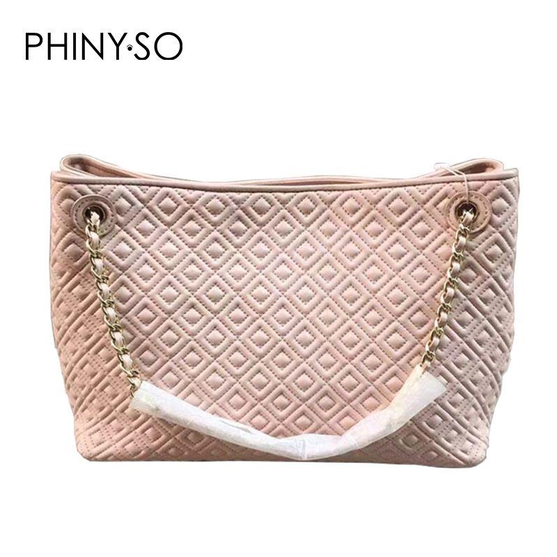 2018 Classic Fashion women handbag Famous Brand Casual Tote Genuine leather shoulder bag sheepskin bags Diamond Lattice