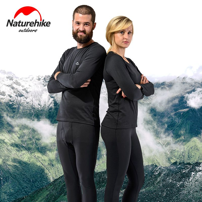 Brand Naturehike outdoor sports thermal underwear unisex autumn winter cycling skiing quick dry perspiration function Bra set
