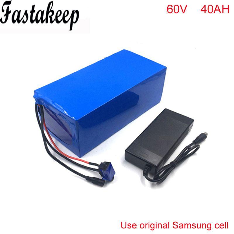 Super Power 60 v 40Ah 3000 watt DIY Lithium-Batterie für Elecreic Fahrrad Citycoco Golf Auto mit Ladegerät BMS Für samsung zelle