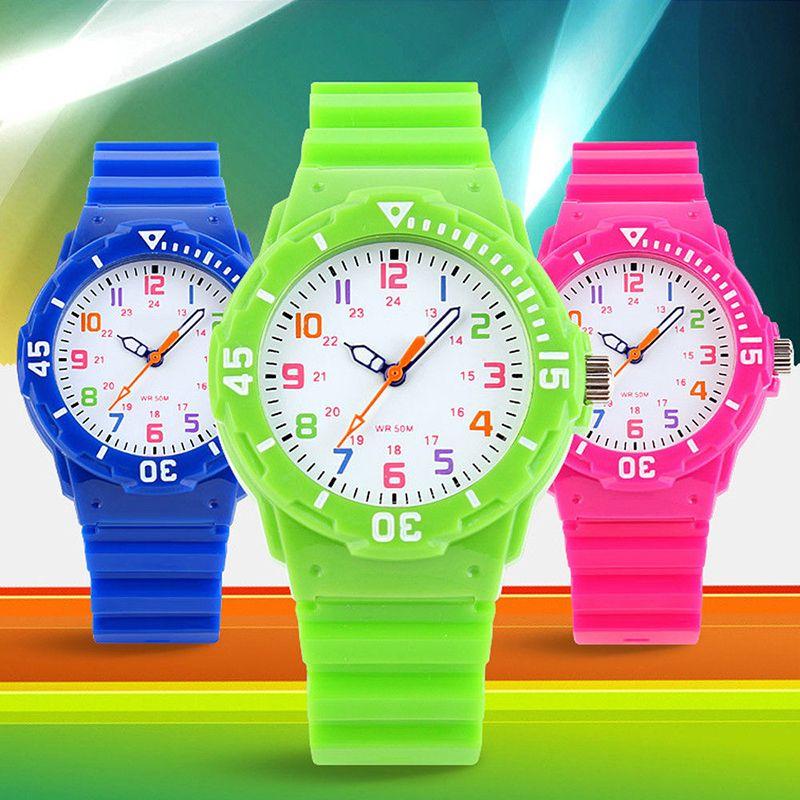 Niños Reloj Del Deporte de la Moda Casual Hombres Mujeres reloj de Cuarzo Relojes de La Jalea Impermeable Niños Relojes Para niños Niñas Estudiantes de Pulsera