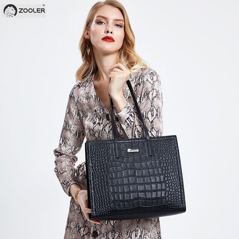 ZOOLER frauen handtasche aus echtem leder taschen 2019 große frauen totes mit tier muster dame schulter taschen für shopping tote # f223