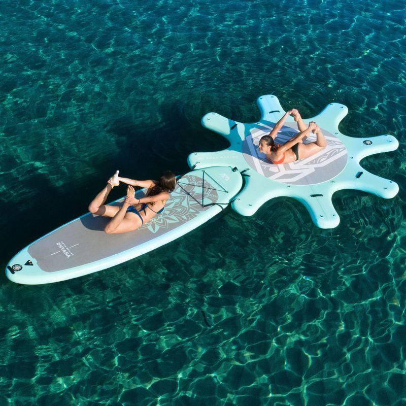 Dock für yoga bord 290 cm AQUA MARINA DHYANA yoga surfbrett SUP stand up paddle board surf board wasser club übung ausrüstung