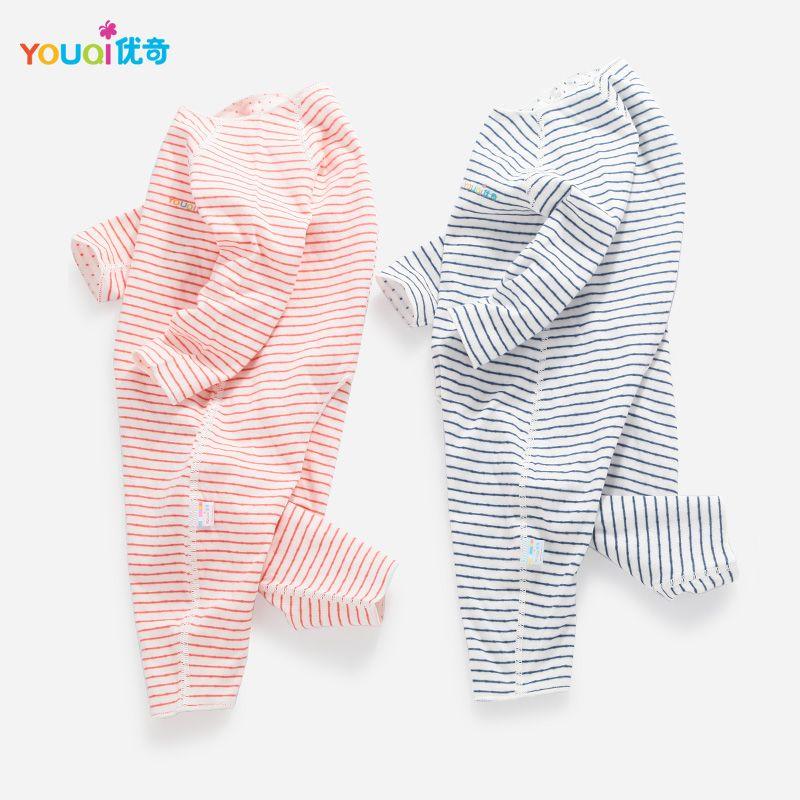 Youqi качественная одежда для малышей мальчиков для маленьких девочек Комбинезоны для малышек хлопок 3 6 24 месяцев малышей Infantil одежда милый р...