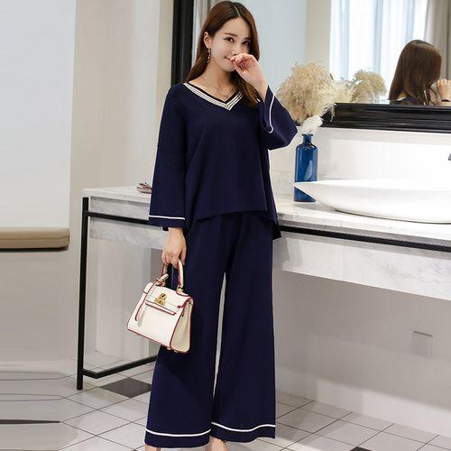 Plus Size 5xl Casual Wild Two Piece Set Top And Pants Brief Fashion Ensemble Femme Survetement Temperament Generous Women's Suit