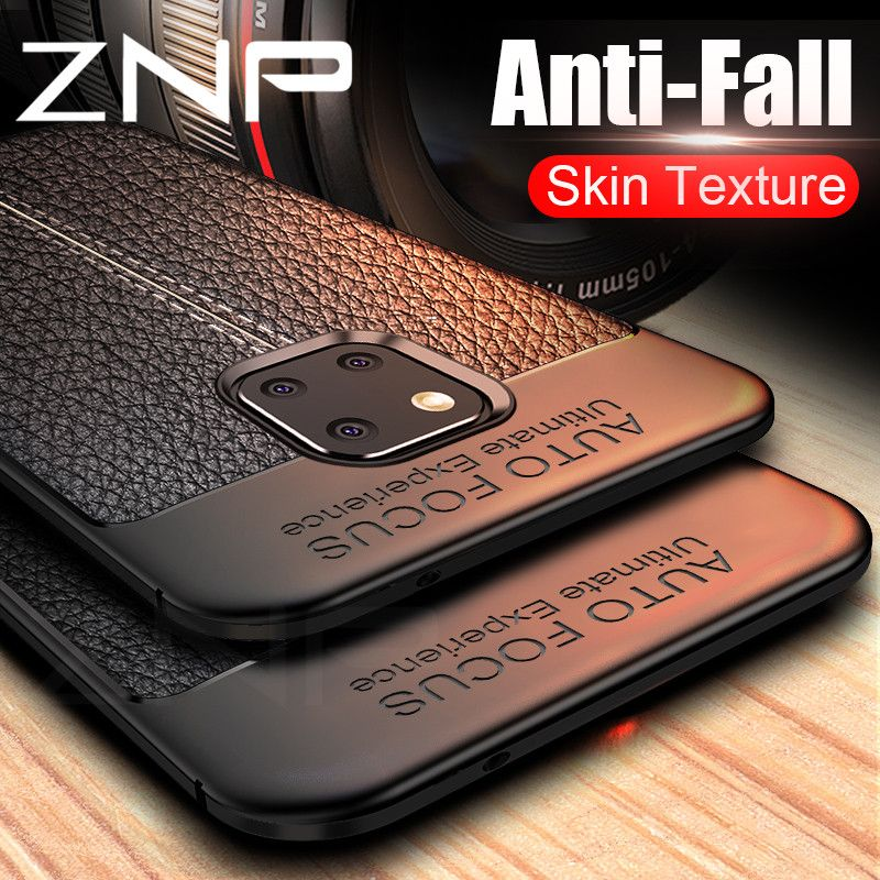 ZNP Luxury Shockproof Matte Cover For Huawei Mate 20 Lite Phone Case Leather Carbon Fiber Leather For Huawei Mate 20 Pro Cases
