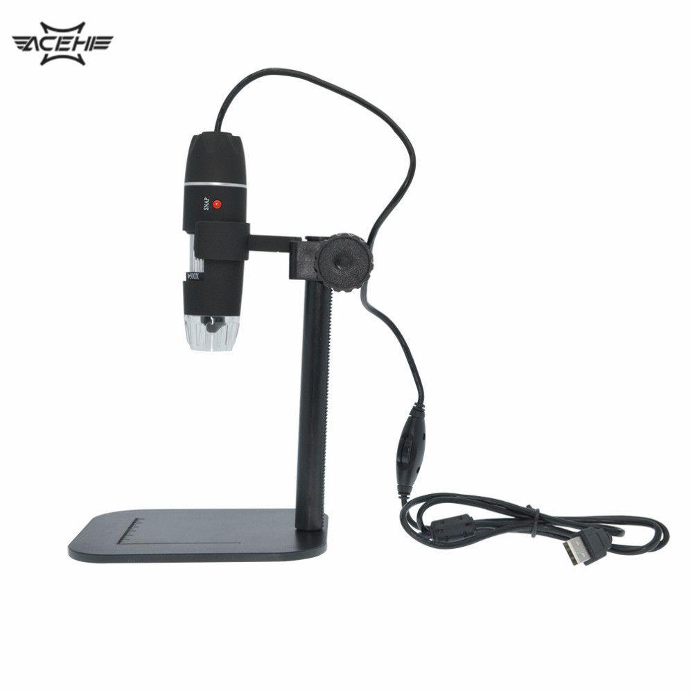 50X à 500X USB LED Microscope électronique numérique loupe caméra noir pratique caméra Microscope Endoscope loupe
