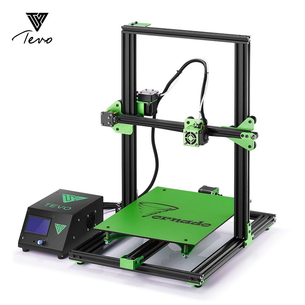 2018 TEVO Tornado 3D Printer Fully Assembled Impresora 3D Full Aluminium Frame with Titan Extruder Large Printing AC Heatbeat