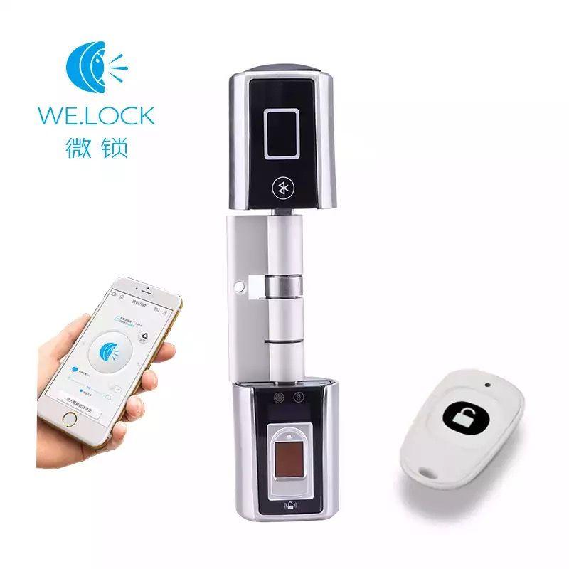 L5SR-Plus WELOCK Bluetooth Smart Lock Electronic Cylinder Outdoor Waterproof Biometric Fingerprint Scanner Keyless Door Locks