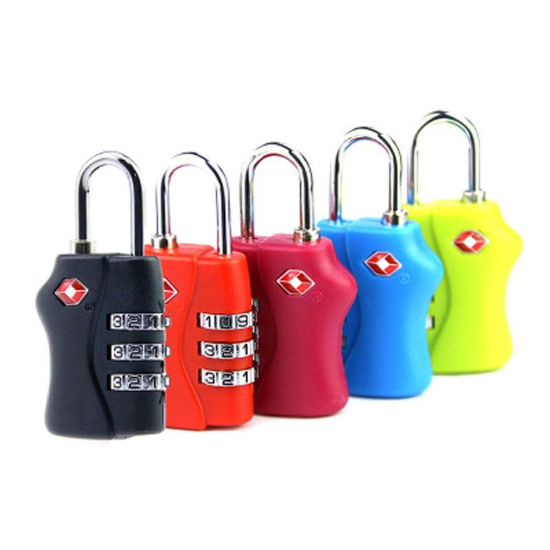 High Quality Resettable 3 Digit TSA Locks Smart Combination Lock For Travel Luggage Suitcase Code Padlock With 5 Colors