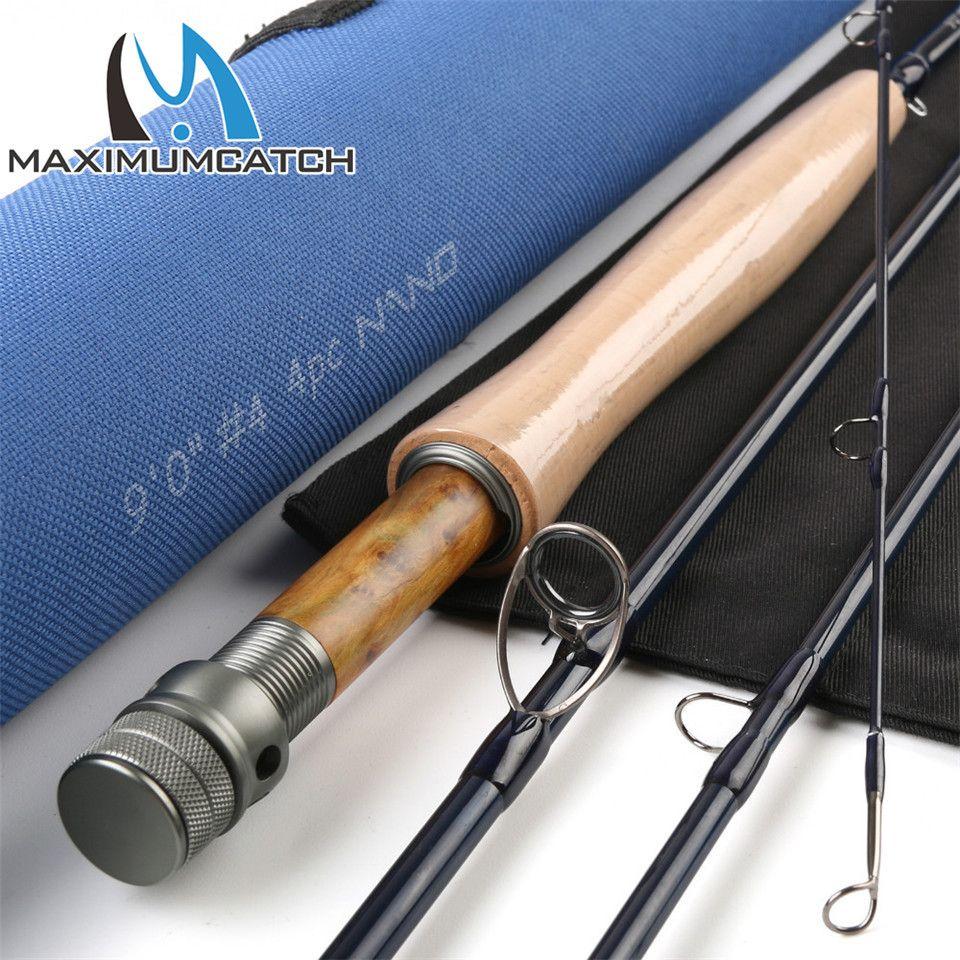 Maximumcatch Nano Fliegenrute IM12 40 T Toray Carbon Schnelle Action Super Licht mit Cordura Rohr Fliegen Angelrute 3/4/5/6/7/8WT 8'4''/9'