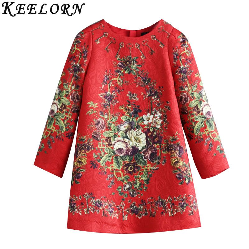 Keelorn Girls Dress 2017 Brand Princess Dresses Long Sleeve European and American Style Design Children Clothing Girl Clothes