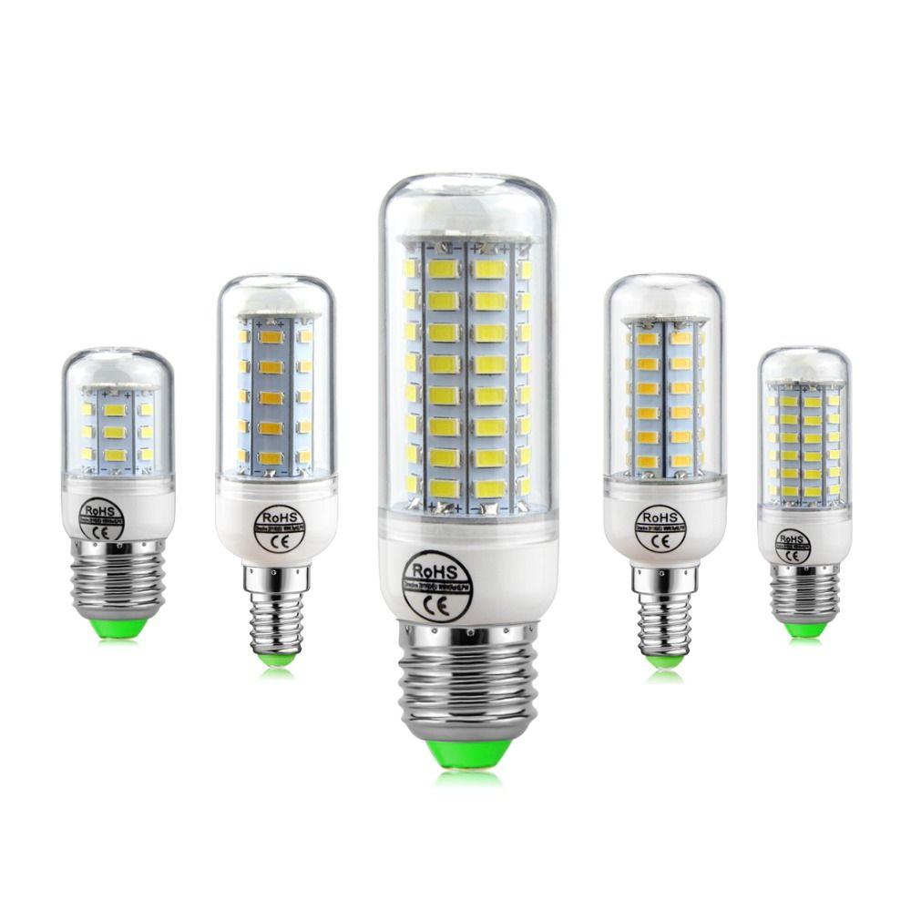 SMD5730 LED Lamp E27 E14 LED Bulb 220V Corn Bulb 24 36 48 56 69 72LEDs Chandelier Candle LED Light For Home Decoration Luminaria