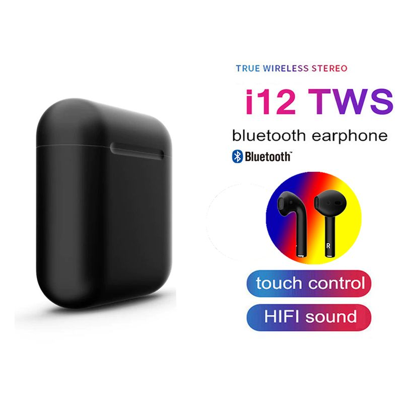 2019 I12 Tws Bluetooth 5.0 Earphones Earbuds Mini 3d Touch Control Wireless Headset Earpiece Original In-ear Earphone For Phone