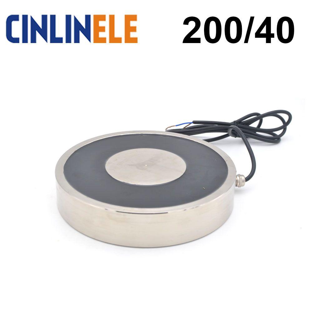 CL-P 200/40 1000KG/10000N Holding Electric Magnet Lifting Solenoid Sucker Electromagnet DC 6V 12V 24V Non-standard custom
