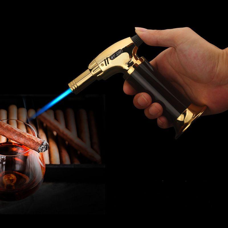 Torche Briquet Turbo 2018 Nouveau pistolet pulvérisateur Jet Butane allume-cigare Gaz Cigarette 1300 C briquet coupe-vent Pas de Gaz