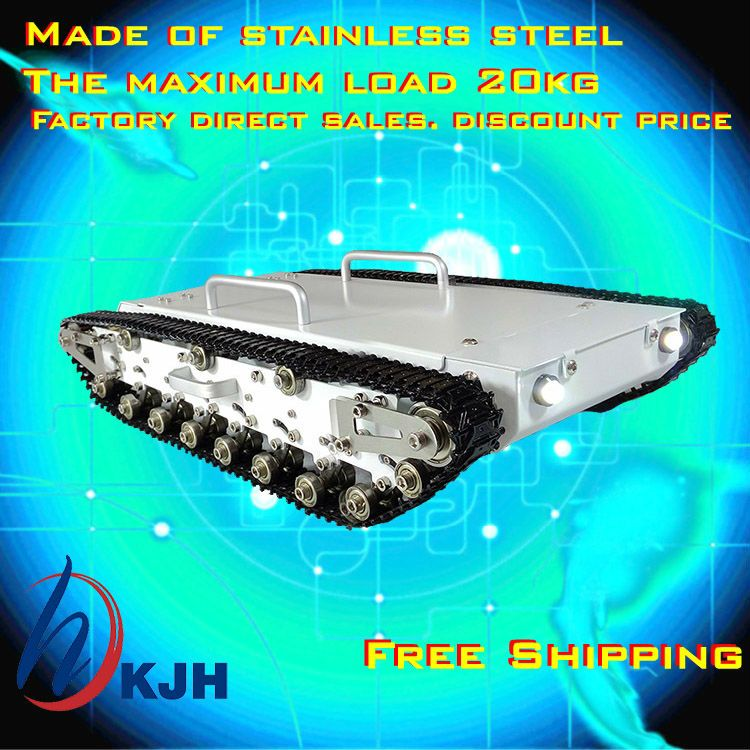 Full metal tank car chassis /All metal structure,big size load large/ obstacle-surmounting tank chassis Fast free shipping