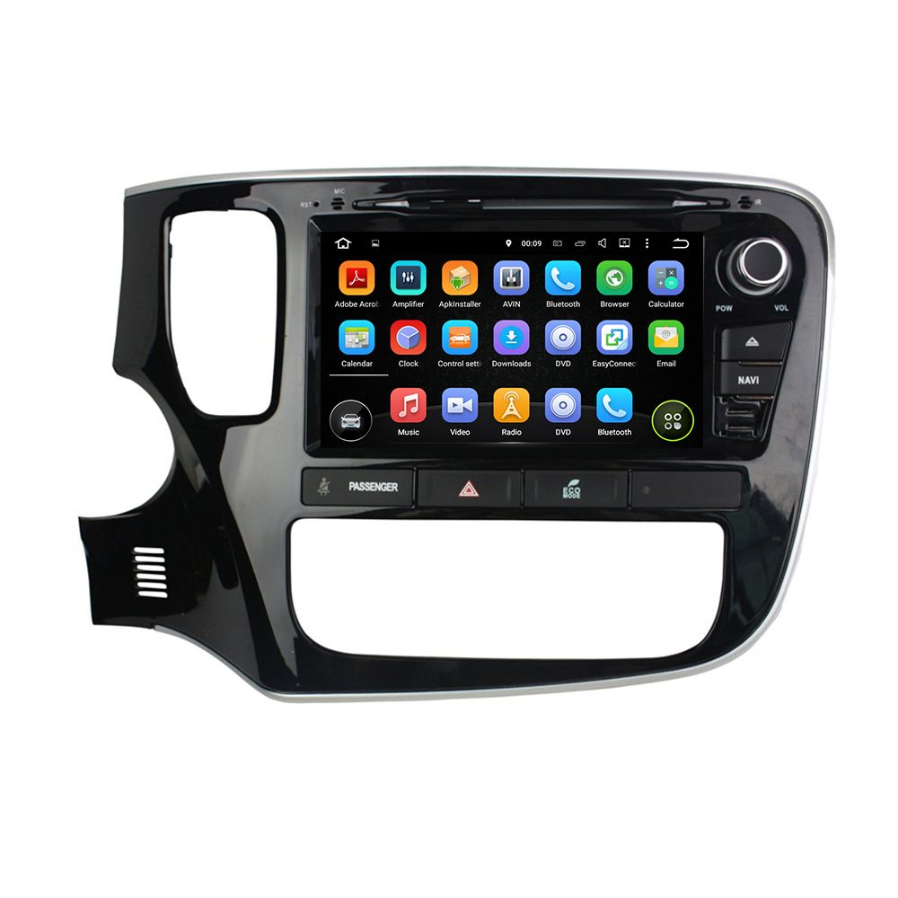 For Mitsubishi Outlander 2015 android 7.1.1 HD 1024*600 car dvd player gps autoradio 3G wifi dvr bluetooth free map and camera