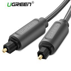 Ugreen Cable de Audio óptico Digital Toslink 1 m 3 M SPDIF Cable Coaxial para amplificadores Blu-ray CD reproductor de DVD Xbox 360 PS3 Soundbar