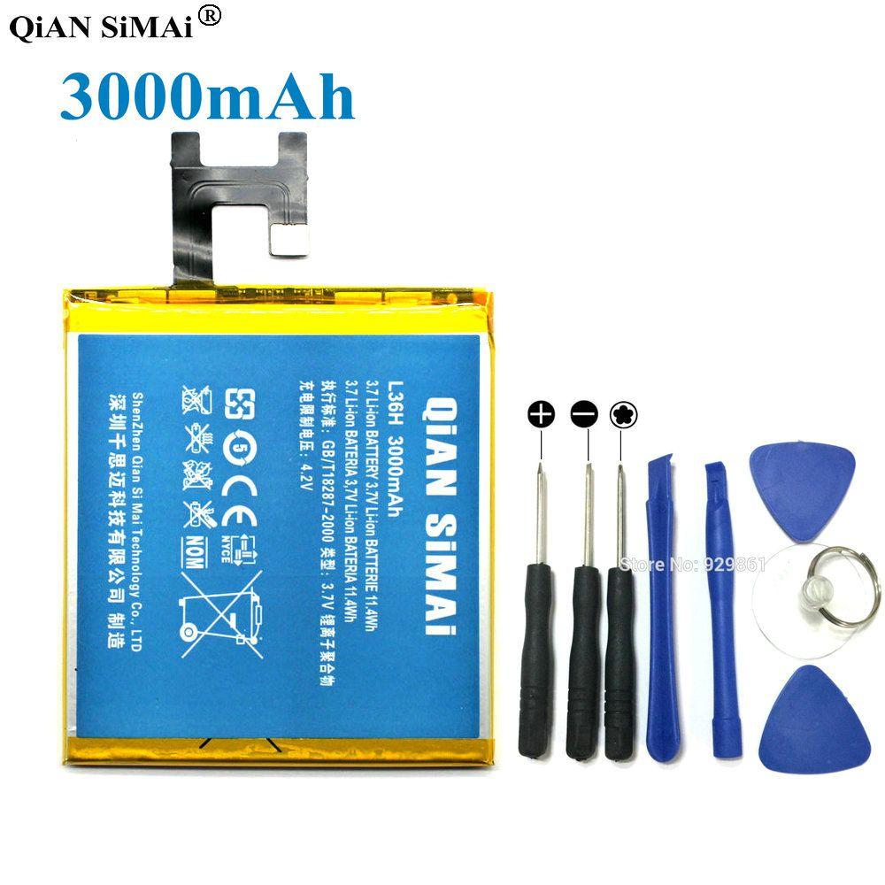 QiAN SiMAi High Quality lis1502erpc 3000mAh Battery & Screwdriver tools For Sony Xperia Z L36h L36i c6602 C6603 S39H