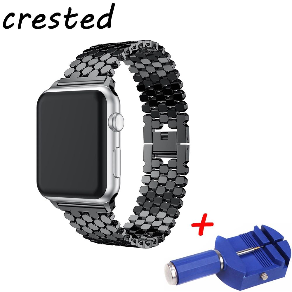 CRESTED link bracelet strap for apple watch <font><b>band</b></font> 42mm/38mm iwatch series 3/2/1 to old customers