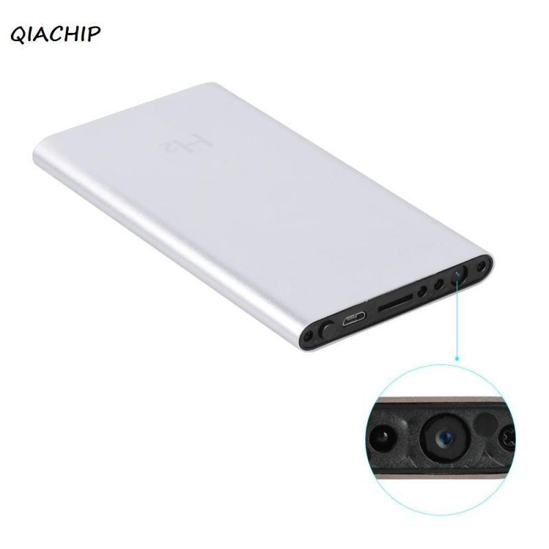 QIACHIP Metal Shell 3000mAh Power Bank 1080P HD Camera Mini Camcorder Recorder DV DVR Motion Detection Video Support TF Card H4