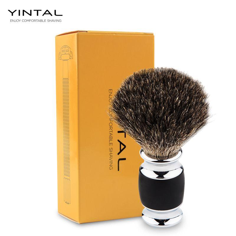 Poils de blaireau brosse de rasage Main-fait Blaireau Silvertip Brosses outil rasage Rasage brosse à rasoir