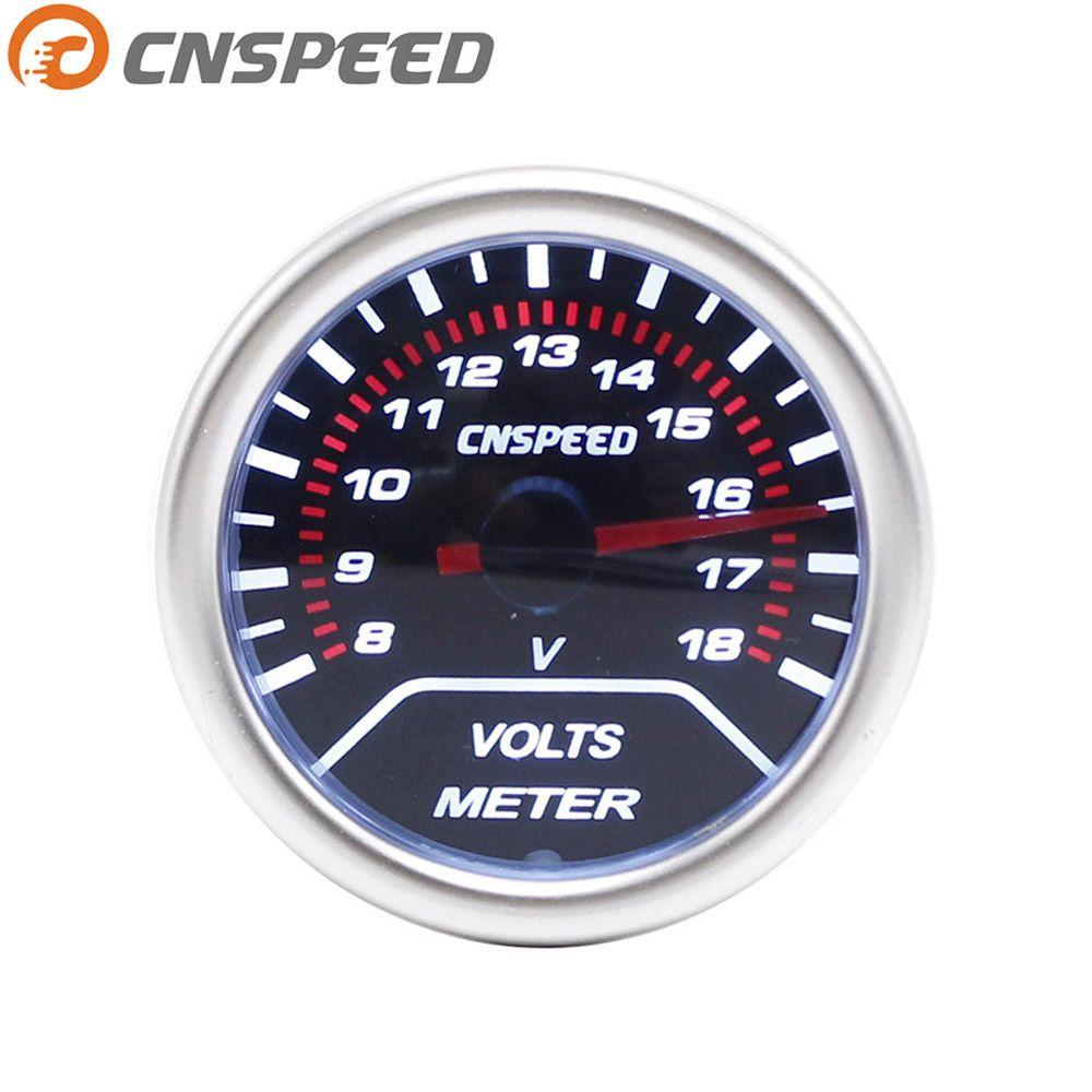 Free shipping CNSPEED Volt meter 2(52mm) Smoke lens 8-18 volts gauge voltage gauge Car meter YC101232