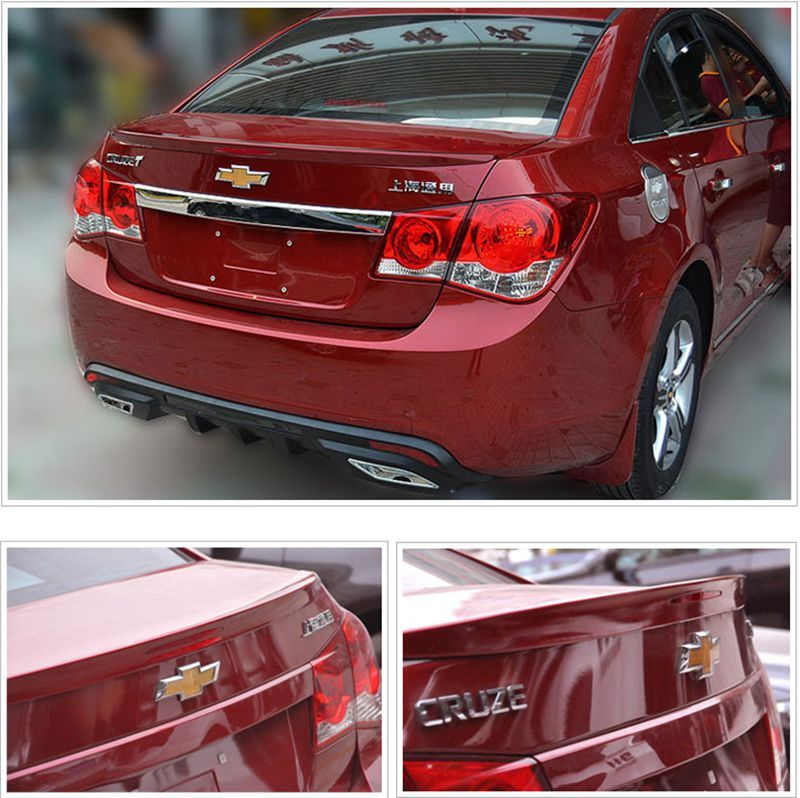 Car Styling ABS Plastic Unpainted Primer Color Tail Trunk Wing Rear Spoiler For Chevrolet Cruze 2009 2010 2011 2012 2013 2014