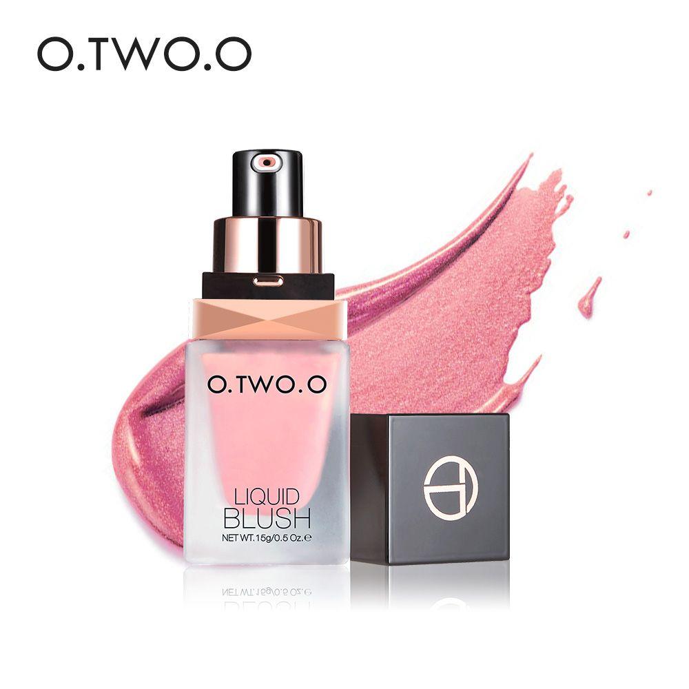 O. DEUX. O Maquillage Visage Liquide Blush Élégant Soyeux Paleta De Blush Couleur Dure Longtemps 4 Couleur Naturel Joue Blush Visage Contour make Up