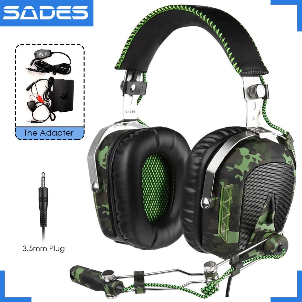 SADES SA926 Gaming Headset 3.5mm Wired Over-Ear Headphones with Mic for Computer/PS3/PS4/Xbox One/Xbox 360