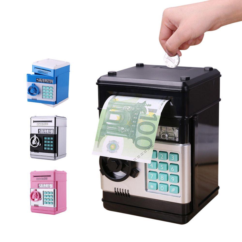 Electronic Piggy Bank Safe Money Box for Children Digital Coins Cash Saving Safe Deposit ATM Machine Birthday Gift for Kids