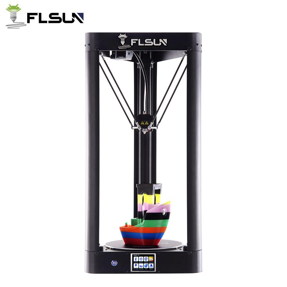 Hohe Druckgeschwindigkeit Flsun-QQ 95% vormontage Delta 3d-drucker Metallrahmen Großen Druckbereich 260*260*370mm Touchscreen Wifi